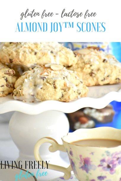 Gluten Free Almond Joy Scones