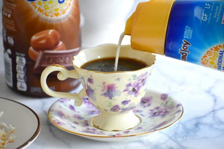 Pouring Coffee Creamer