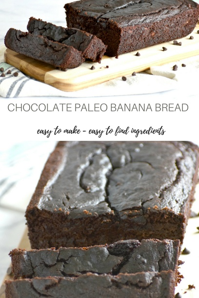 Chocolate Paleo Banana Bread