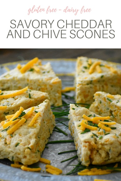 Pin this Savory Cheddar and Chive Scone recipe