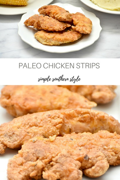 Paleo Chicken Strips Pin now