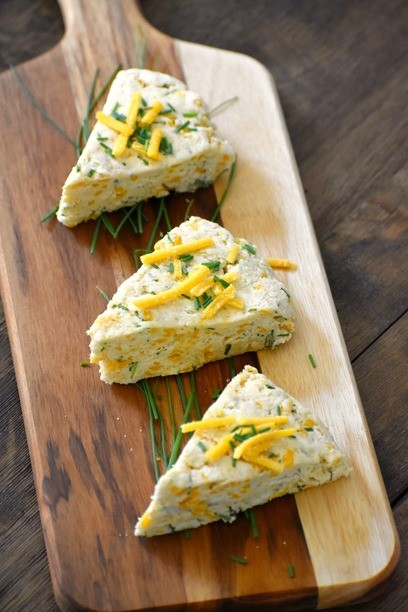Plate of Cheedar and Chive Scones
