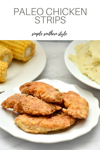 Paleo Chicken Strips on a plate