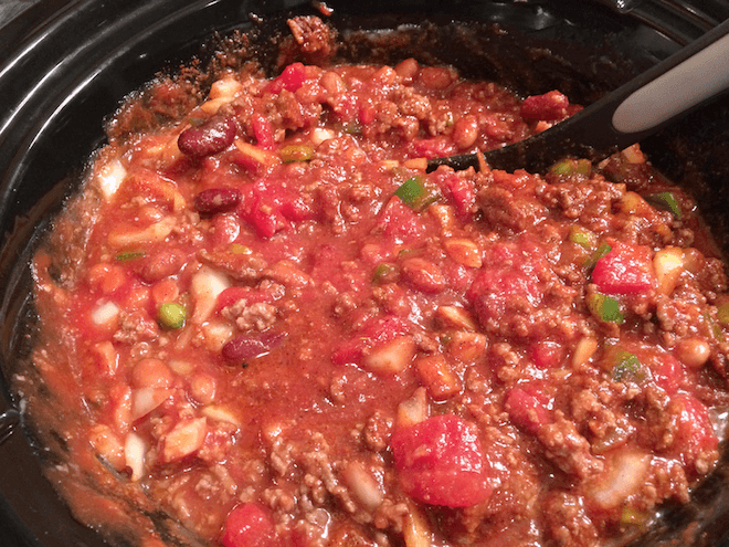 Chili in the Crockpot