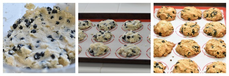 Easy Blueberry Breakfast Cookies Process Shots