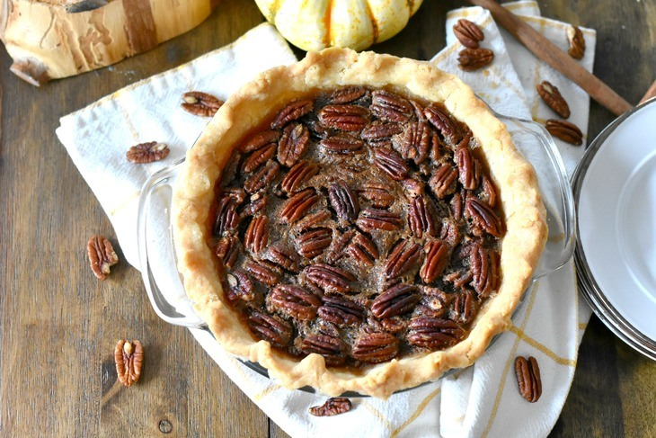 Gluten Free Pecan Pie on the table
