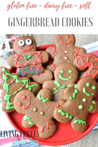 Gluten and Dairy Free Gingerbread Cookies
