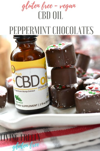 CBD Oil Vegan Peppermint Chocolates