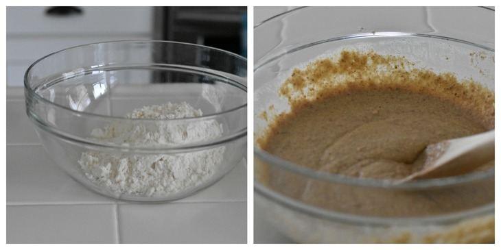 paleo gingerbread pancakes process shots