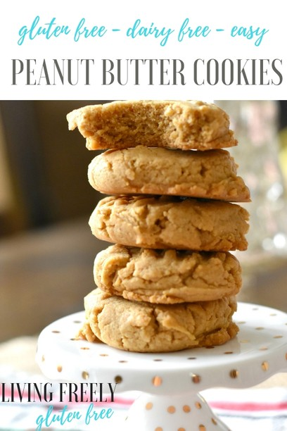 Gluten and Dairy Free Peanut Butter Cookies