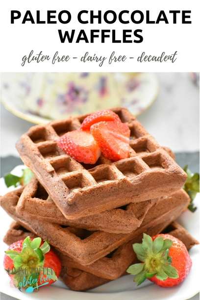 PIN Paleo Chocolate Waffles