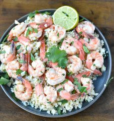 cilantro lime shrimp on a plate