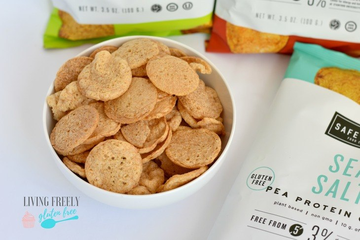 Pea Protein Chips in a bowl