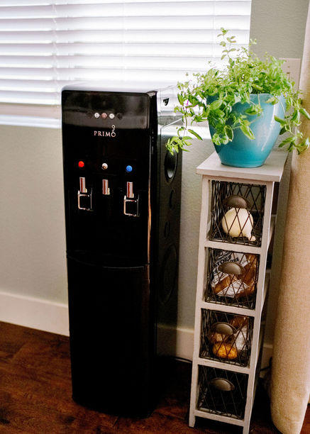 primo water dispenser sitting in the kitchen