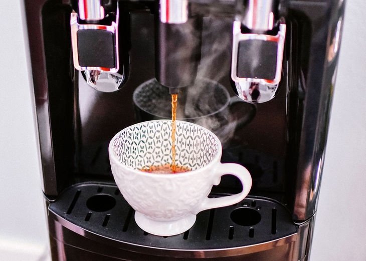 making coffee with the primo system