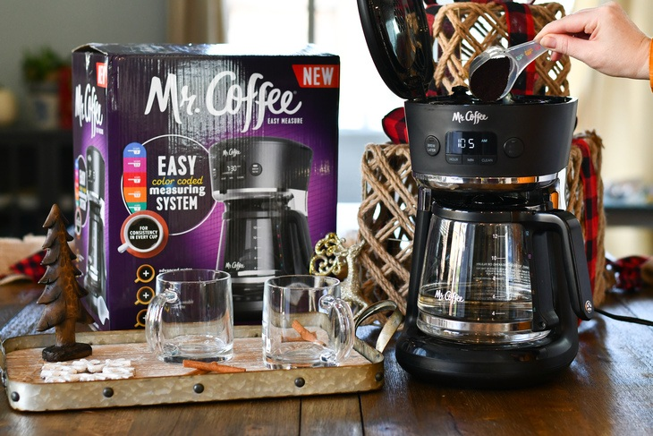 Making coffee in the mr. coffee